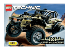 Instructions for Set 8466-1 4 X 4 Off-Roader