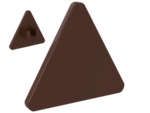 Reddish Brown Road Sign Clip-on 2 x 2 Triangle