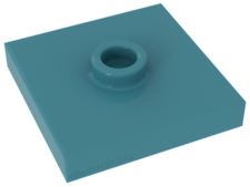Medium Azure Plate, Modified 2 x 2 with Groove and 1 Stud in Center (Jumper)