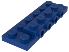 Blue Plate, Modified 2 x 6 x 2/3 with 4 Studs on Side