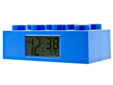 Clock Brick 2 x 4 - Blue