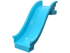 Medium Azure Duplo Playground Slide Straight with Two Studs at Top End