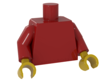 Red Torso Plain / Red Arms / Yellow Hands