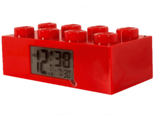 LEGO Brick Alarm Clock Red