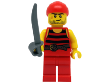Minifigure 40158 Pirate 5. Black and red stripes