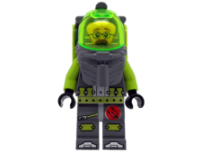 Minifigure Atlantis 8075 Diver 6. Jeff Fisher