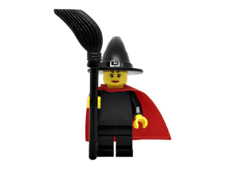 Minifigure cas484 Witch - Plain with Cape