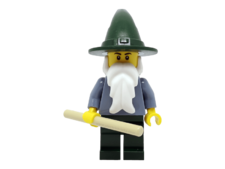 Minifigure cas483 Wizard - Sand Blue with Dark Green Legs and Hat
