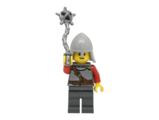 Minifigure cas479 Red Sash, Light Bluish Gray Neck Protector