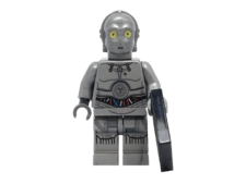 Minifig World Star Wars C3PO grey