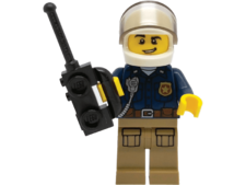 Minifigure Police with Helmet