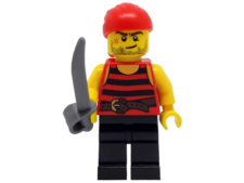 Minifigure 40158 Pirate 6. Black and red stripes