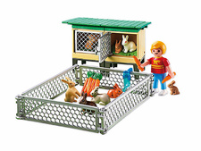 Rabbit Pen with Hutch