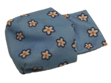 Medium Blue Duplo Cloth Sleeping Bag with Blue, White and Orange Flowers Pattern